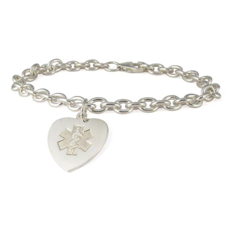 silver heart charm bracelet