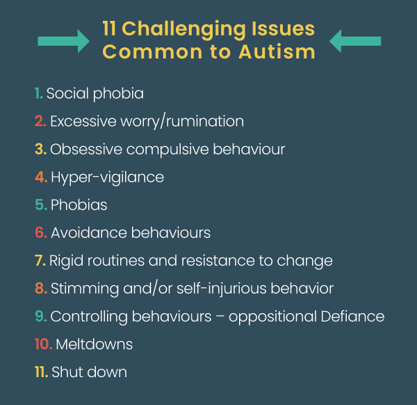 11 challenging issues common to autism