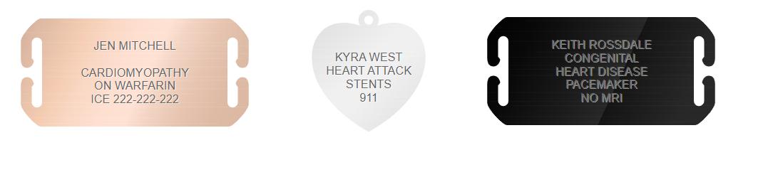 heart disease medical id engraving